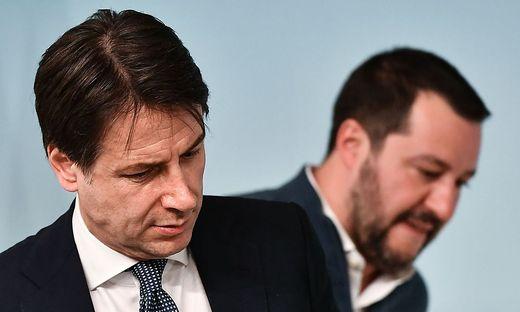 Ministerpräsident Giuseppe Conte und Innenminister Matteo Salvini