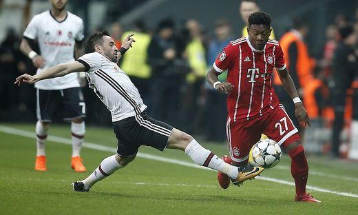 David Alaba (rechts) siegte mit dem FC Bayern auch in Istanbul