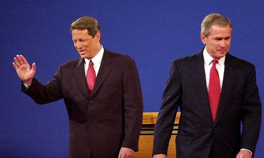 Al Gore und Geoge Bush