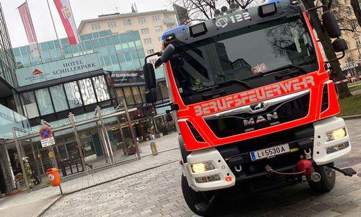 Brand im Hotel Schillerpark in Linz ausgebrochen
