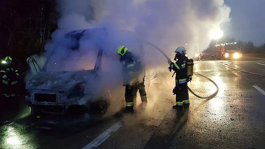 Die Feuerwehren waren sofort vor Ort