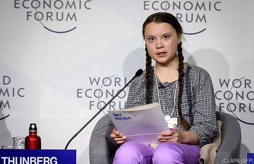 Klimadebatte in Davos: 16-Jährige geigt Top-Managern die Meinung