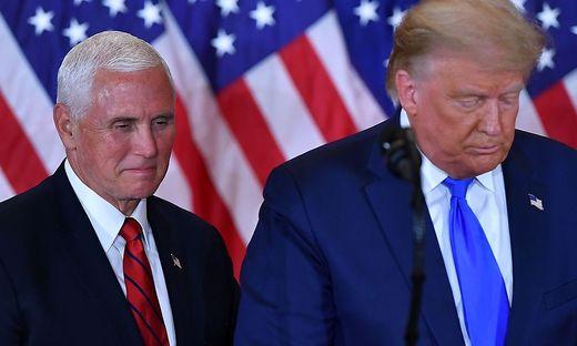 Donald Trump und sein Stellvertreter Mike Pence