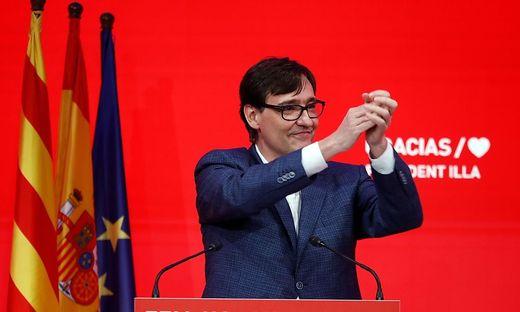 Salvador Illa holte für die Sozialisten die meisten Stimmen - doch es reicht nicht für eine Regierungsmehrheit