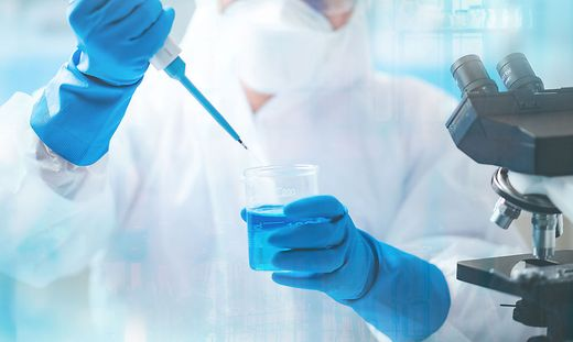 doctor working about medicine treatment in laboratory for test a coronavirus vaccine, virus disease injection medical, flu pandemic health with patient in hospital, epidemic, using syringe test tube