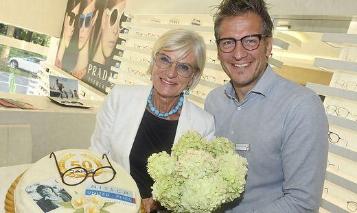 Optiker Nitsch: Brigitte Kuschinsky und Sohn Daniel Kuschinsky
