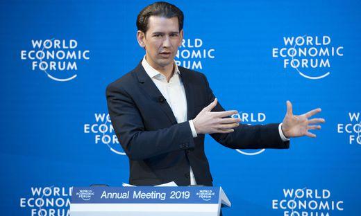 Kanzler Kurz beim WEF in Davos