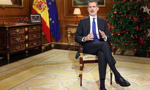 König in Bedrängnis: Spaniens König Felipe VI. bei seiner traditionellen Weihnachtsansprache