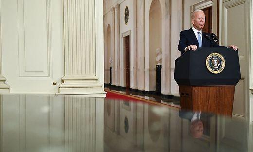 US-Präsident Joe Biden räumte keine Fehler beim Abzug der US-Soldaten ein