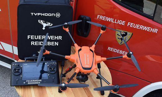 Bei einem Stallbrand in Eitweg im Jänner kam die Drohne zur Lagebeurteilung zum Einsatz
