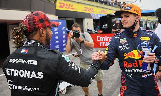 Zwei Konkurrenten um den WM-Titel: Lewis Hamilton (links) und Max Verstappen