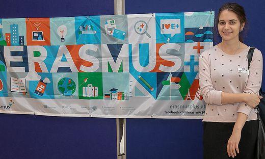 Erasmus-Studentin aus der Ukraine in Klagenfurt