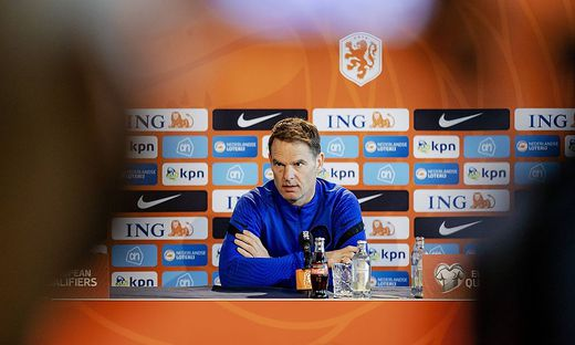 ZEIST - National coach Frank de Boer during a press conference, PK, Pressekonferenz in the run-up to the World Cup quali
