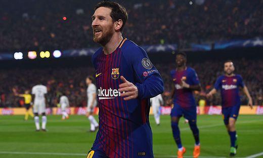 Lionel Messi war der Mann des Abends: Er erzielte zwei Treffer und bereitete ein weiteres vor