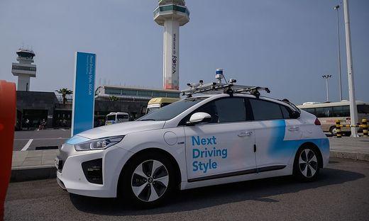 Ein autonomes Fahrzeug von Hyundai