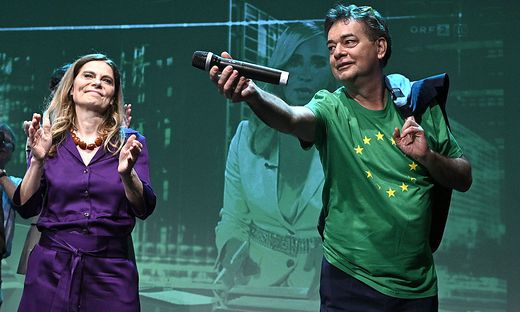 Sarah Wiener und Werner Kogler