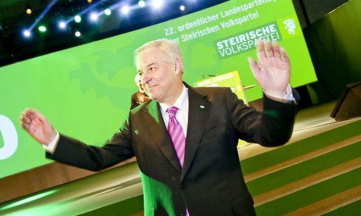 Landeshauptmann Schützenhöfer am Parteitag.