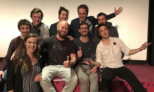 Das Filmteam bei der Premiere in Graz