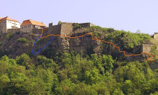 Klettersteig Riegersburg : Grosseinsatz auf riegersburg familie hing im finstern