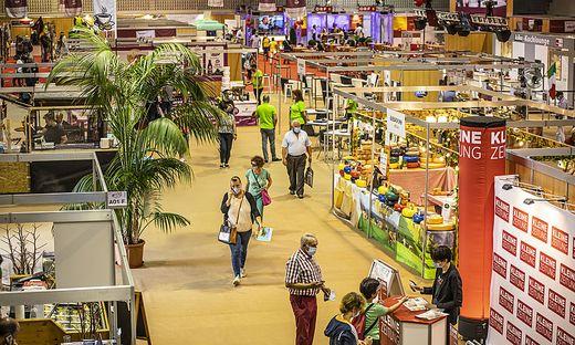 Die Herbstmesse Klagenfurt, die erste Messe Österreichs nach dem Corona-Lockdown: Am Eröffnungstag blieb der Besucherandrang vorerst aus