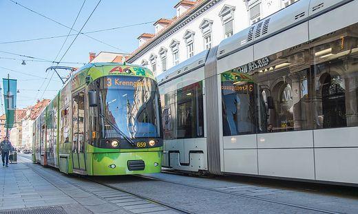 Tramway in der Herrengasse.