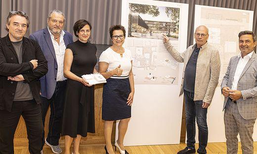 PK Ausstellung Siegerprojekt Neubau Alpen Adria Gymnasium Völkermarkt Juli 2021