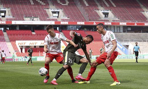 Umkämpftes Spiel in Köln