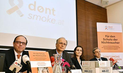 RAUCHVERBOT: STARTSCHUSS VOLKSBEGEHREN 'DON'T SMOKE': SAMONIGG / SZEKERES / JAHN-KUCH / SEVELDA