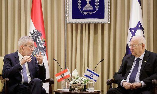 ++ HANDOUT ++ BUNDESPRAeSIDENT VAN DER BELLEN IN ISRAEL: TREFFEN MIT PRAeSIDENT RIVLIN