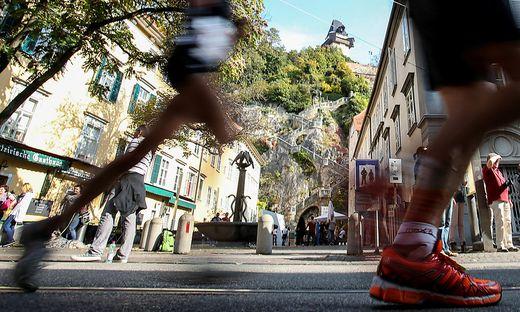 Der Graz-Marathon wurde heuer in Form eines virtuellen Hybrid-Runs ausgetragen