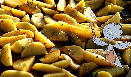Ziegenkäse mit Oliven-Erdäpfeln