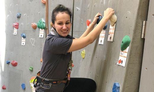 Marie-Theres Fürstauer ist begeisterte Kletterin