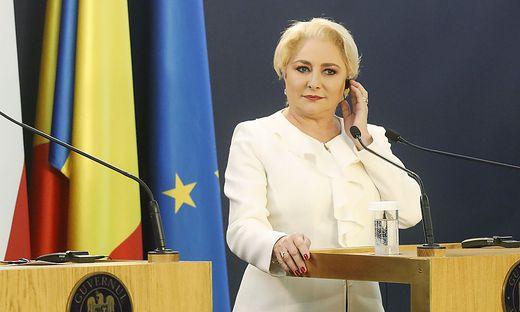 Regierungschefin Vasilica Viorica Dancila