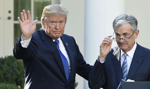 2017 bei der Einsetzung des Fed-Chefs passte die Chemie noch: Trump und Powell