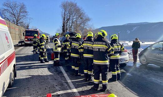 In Liezen waren drei Fahrzeuge in einen Auffahrunfall verwickelt.