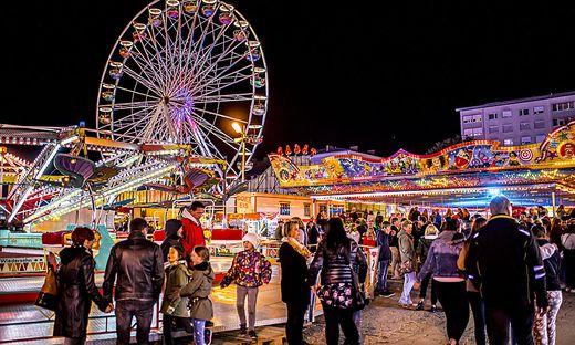 Feuerwerk Wiesenmarkt Sankt Veit Oktober 2019