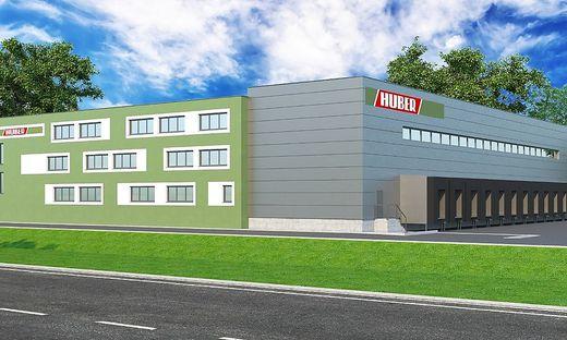 So sieht das neue Gebäude der Firma Huber künftig aus