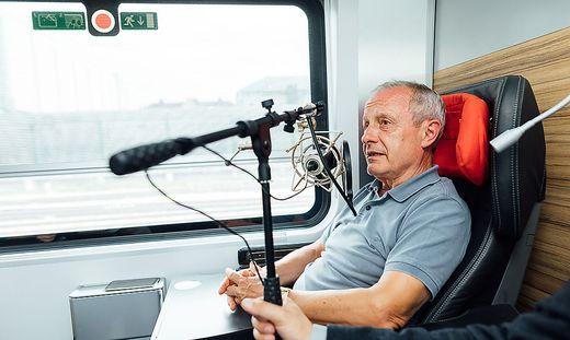 Zugfahren mit Peter Pilz