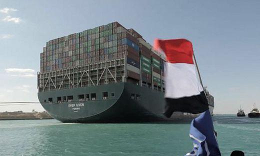"""Containerschiff """"Ever Given"""" ist wieder frei"""