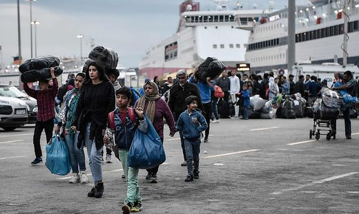 Ankunft neuer Migranten in Griechenland