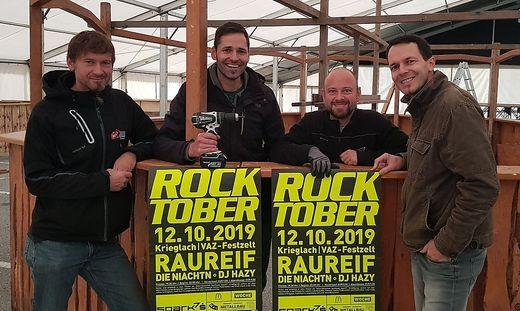 Die Jungs von Raureif sind bereit für den 21. Rocktober