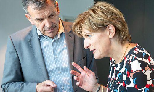 Georg Willi (Bürgermeister) und Christine Oppitz-Plörer (Vizebürgermeisterin)