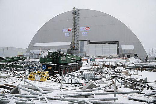 Eine Ansicht des Reaktors von Tschernobyl