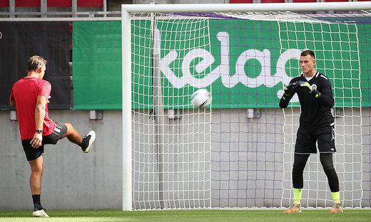 Austria-Goalie Lennart Moser ist bereit für den Sonntags-Schlager gegen den Tabellenzweiten, Sturm Graz