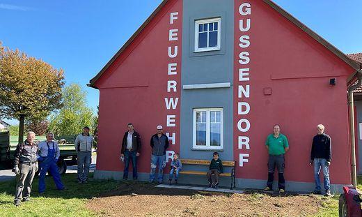 Der Ausgangspunkt für den Gussendorfer Bankerlweg befindet sich beim Feuerwehrhaus