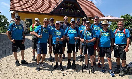"""12,5 Kilometer lang war die Tour, die die Wandergruppe """"Fit im Schritt"""" bestritt"""