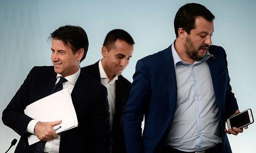 Conte, Di Maio und Salvini