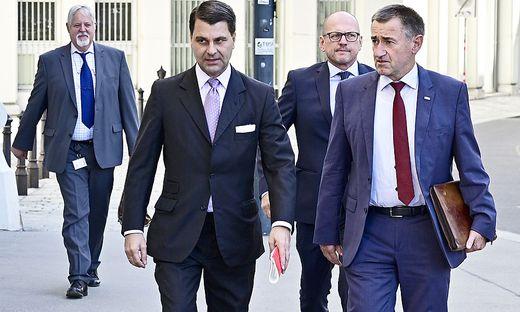 Peter Gridling Direktor BVT, Innenminister Wolfgang Peschorn, Generaldirektor für öffentliche Sicherheit, Franz Lang