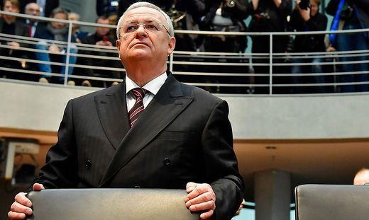 Martin Winterkorn im Jänner 2017 vor dem U-Ausschuss im deutschen Bundestag