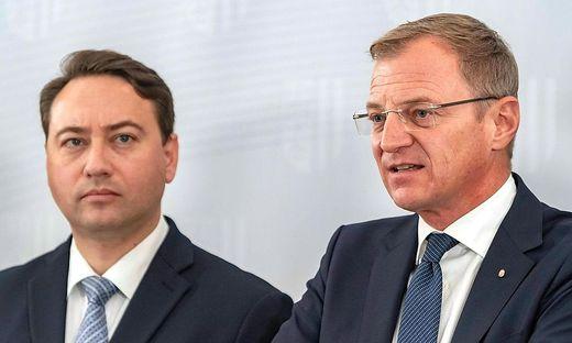 Manfred Haimbuchner und Thomas Stelzer trafen sich am Mittwoch zum ersten Sondierungsgespräch.